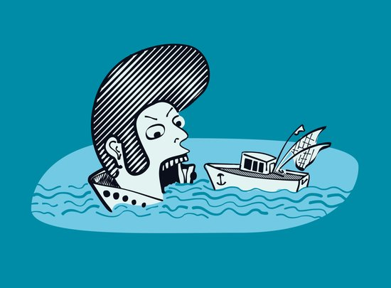 Elvis Eats Boats Art Print