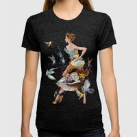 Lady of Spring Womens Fitted Tee Tri-Black SMALL