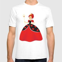 Queen Of Hearts Mens Fitted Tee White SMALL