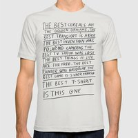 The best title is this one Mens Fitted Tee Silver SMALL
