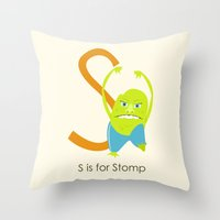 S Is For Stomp Throw Pillow