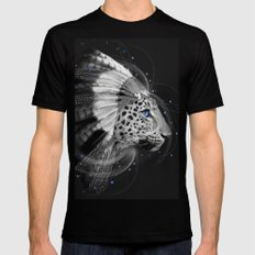 Don't Define the World (Chief of Dreams: Amur Leopard) SMALL Mens Fitted Tee Black
