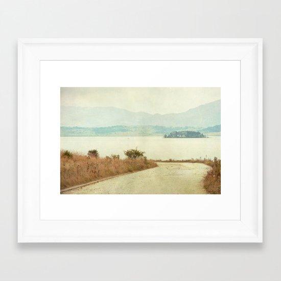 The Curve Framed Art Print