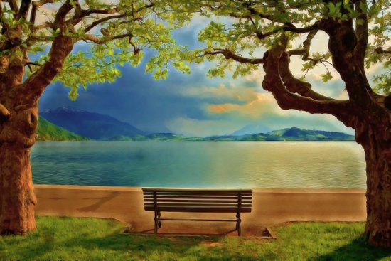 I Will Sit Here and Wait For You Forever My Love Art Print