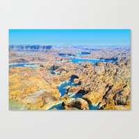 Soaring Over Turquoise and Sandstone IX Canvas Print
