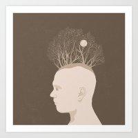 NATURE PORTRAITS 03 SIMPLIFIED Art Print
