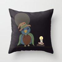 Wizard Bird Throw Pillow