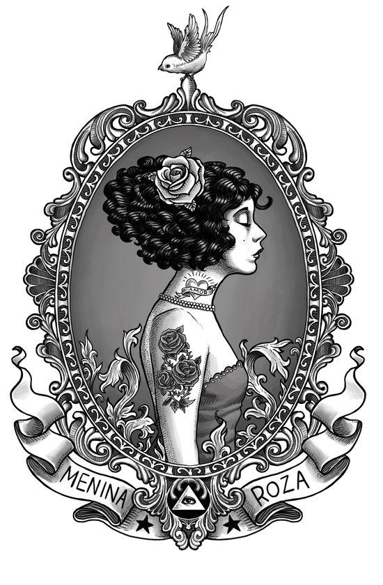 Menina Roza Art Print