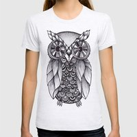 It's A Hoot Womens Fitted Tee Ash Grey SMALL