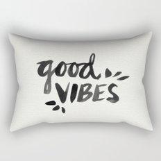 Good Vibes – Black Ink Rectangular Pillow