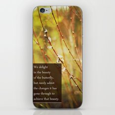 becoming a butterfly. iPhone & iPod Skin