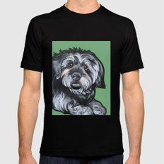 Biscuit Black Mens Fitted Tee SMALL