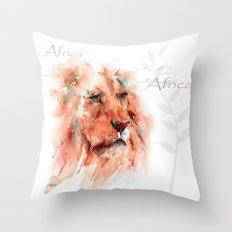 Kiburi ... Lion Throw Pillow