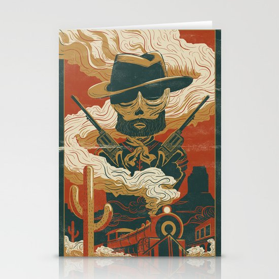 Train to Yuma Stationery Card