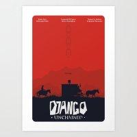 Django Unchained - Minim… Art Print