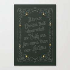 Harry Potter Typographic Quote Canvas Print
