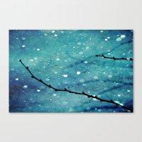 Winter Snow Branches  Canvas Print