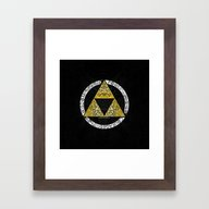 Zelda - Triforce Circle Framed Art Print
