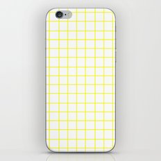 Grid (Yellow/White) iPhone & iPod Skin