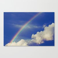 Rainbow Over Fluffy Whit… Canvas Print