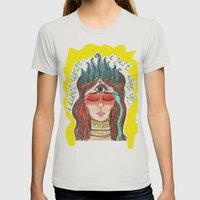 Third Eye Womens Fitted Tee Silver SMALL