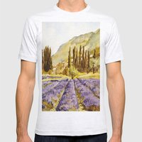 La Provence Mens Fitted Tee Ash Grey SMALL