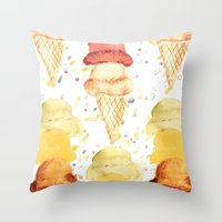 Ice Cream! Throw Pillow