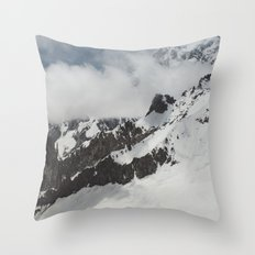 Clouds Shrouding Mont Blanc Throw Pillow