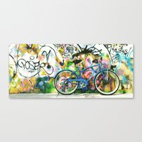 Blue Bike Series 1.0 Canvas Print