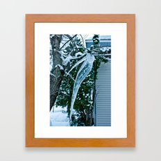 Wicked Icicle  Framed Art Print