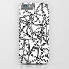 Abstract New Black on White iPhone 6s Slim Case