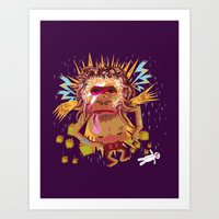 Gorillain Sane Art Print