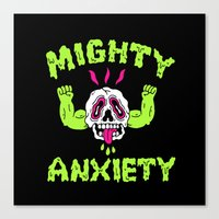 Mighty Anxiety Canvas Print
