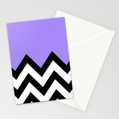 PURPLE COLORBLOCK CHEVRON Stationery Cards