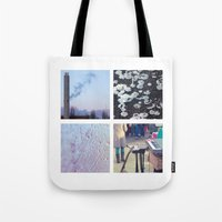 Squares #1: Berlin / Winter Tote Bag