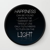 Harry Potter Albus Dumbledore Quote Wall Clock