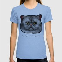 YOU HATE CATS = I HATE Y… Womens Fitted Tee Athletic Blue SMALL