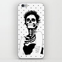 Lady Skull Dots iPhone & iPod Skin