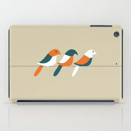 Birds on wire iPad Case