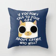 Listen to Cake Throw Pillow
