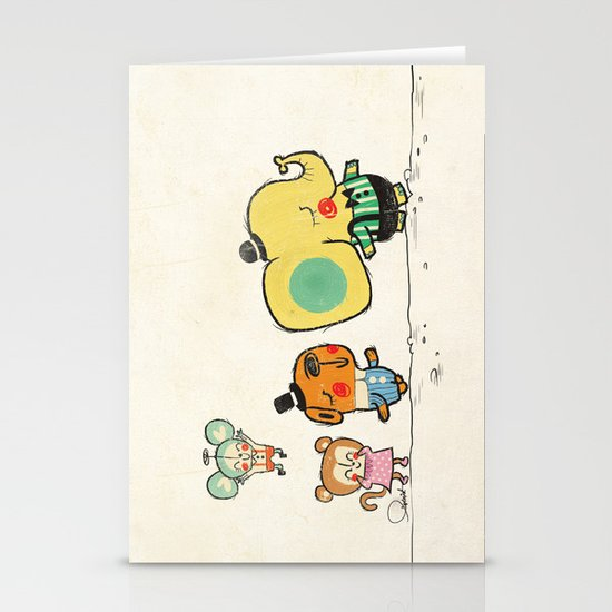 Walking with you Stationery Card