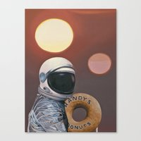 Twin Suns and Donuts Canvas Print