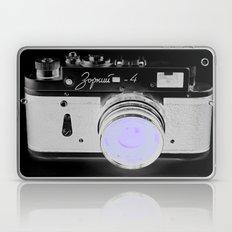 VinTage CaMera Black & White + Lavender Laptop & iPad Skin