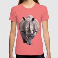 Rhino Womens Fitted Tee Pomegranate SMALL