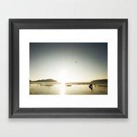 Fun In The Sun. Framed Art Print