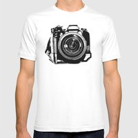 Camera Mens Fitted Tee White SMALL