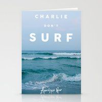 Charlie Don't Surf Stationery Cards
