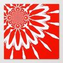 Red Modern Flower Canvas Print
