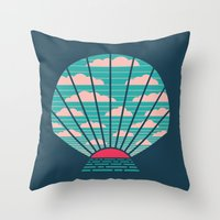 The Birth Of Day Throw Pillow