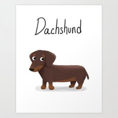 Dachshund - Cute Dog Ser… Art Print